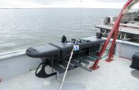 Arctic wave glider:  pre deployment, Prudhoe Bay, AK, 31JUL2011