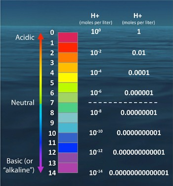 The pH scale by numbers