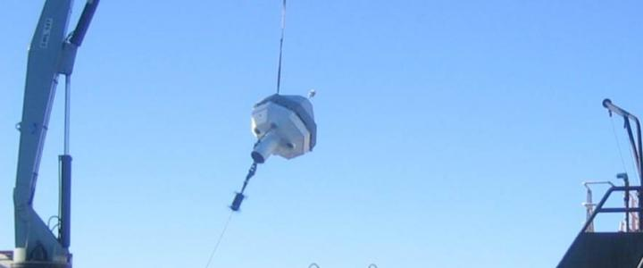 PICO buoy being deployed