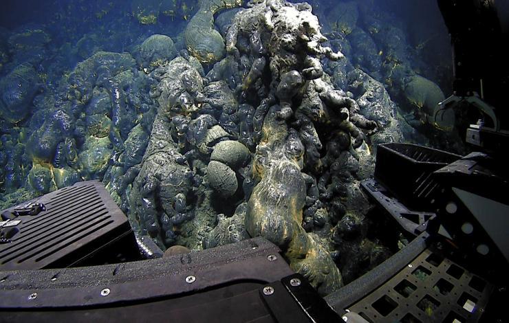 ROV SuBastian sampling new lava