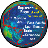 Map view of the Ring of Fire