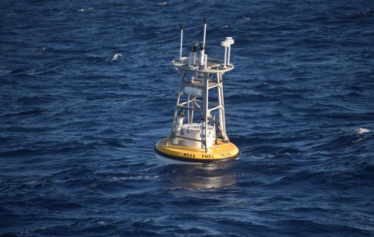 TELOS mooring deployed off the coast of Hawaii in November 2019