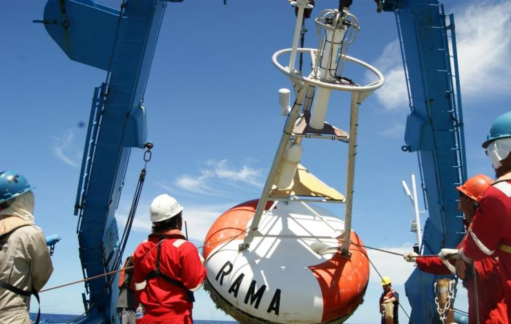 Research Moored Array for African-Asian-Australian Monsoon Analysis and Prediction (RAMA) buoy recovered.