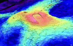 3D image of Axial Seamount bathymetry