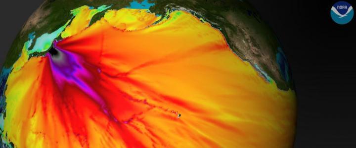 Tohoku Japan (East Coast of Honshu) Tsunami Propagation, March 11, 2011