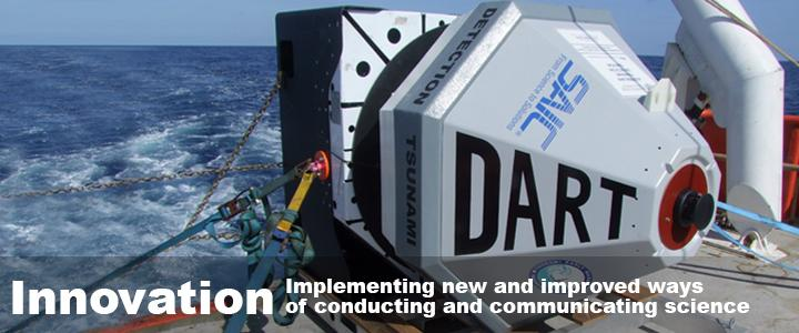 """Banner image text: """"Innovations: Implementing new and improved ways of conducting and communicating science"""""""