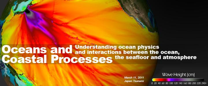 "Banner Image text: ""Oceans and Coastal Processes: Understanding ocean physics and interactions between the ocean, the seafloor and atmosphere"""