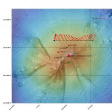 Bathymetric map of Ahyi Seamount