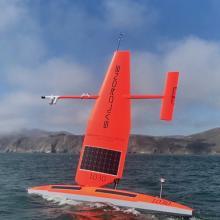 Photo of Saildrone, an autonomous sailing drone